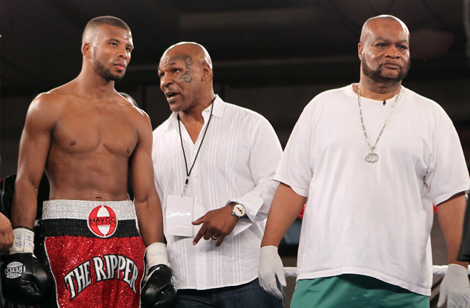 Badou and Mike Tyson will appear on the same card together for the first time this year. Photo Credit: Tom Casino / Showtime