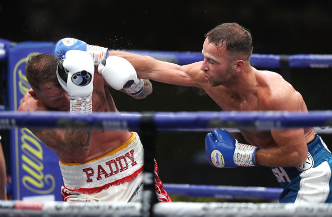 Cash landed two knockdowns in a dominant performance over Welborn Photo Credit: Mark Robinson/Matchroom Boxing