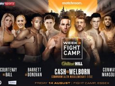 Fight Camp week three is headlined by Felix Cash vs Jason Welborn in a Commonwealth title bout. Credit: Matchroom Boxing