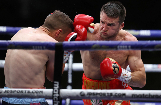 Anthony Fowler stayed on course for a big domestic fight after a dominant win over the brave Adam Harper Photo Credit: Mark Robinson/Matchroom Boxing