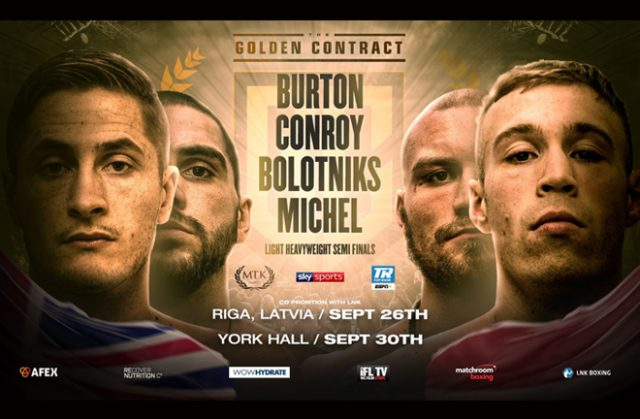 The MTK Golden Contract Light-Heavyweight semi-finals will take place on Sept 26 & 30 Photo Credit: MTK Global
