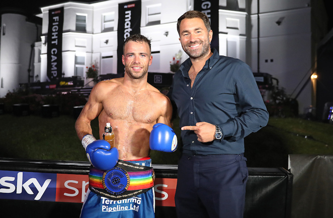 Promoter Eddie Hearn named European Middleweight champion Matteo Signani as a target for Cash Photo Credit: Mark Robinson/Matchroom Boxing