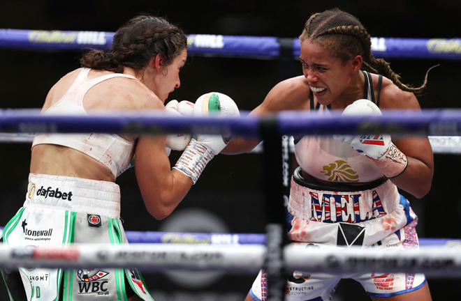 Jonas had plenty of success as she rolled back the years at Fight Camp Photo Credit: Mark Robinson/Matchroom Boxing