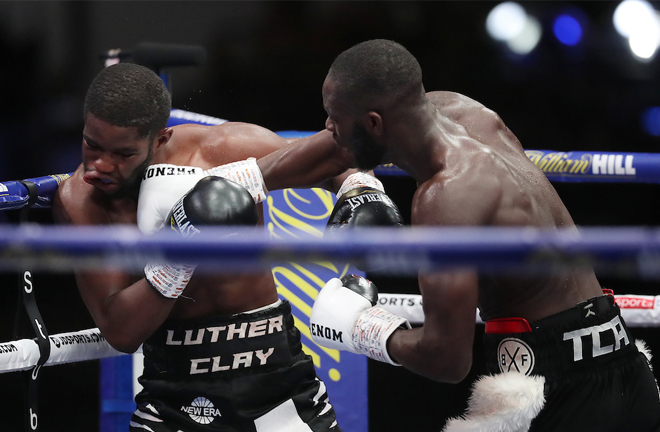 Kongo produced a ninth round stoppage of British rival Luther Clay Photo Credit: Mark Robinson/Matchroom Boxing