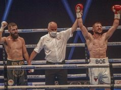 Maxi Hughes upset the odds with an unanimous decision victory over Jono Carroll. Photo Credit: Scott Rawsthorne / MTK Global