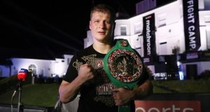 Povetkin claimed the WBC interim Heavyweight title and Diamond belt after his upset over Whyte Photo Credit: Mark Robinson/Matchroom Boxing