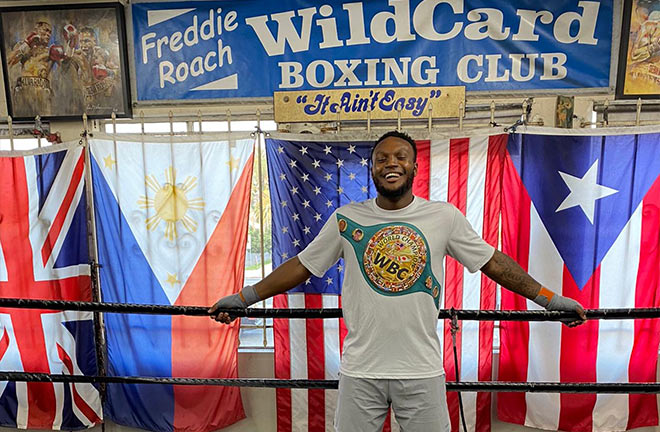 Viddal Riley spent some time at Freddie Roach's Wildcard Gym. Photo Credit: Amer Abdallah