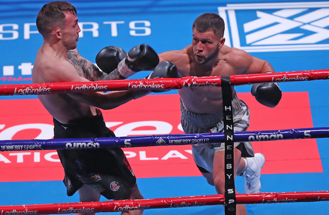 Conah Walker prevailed in his late notice rematch against Nathan Bendon Photo Credit: Courtesy of Hennessy Sports