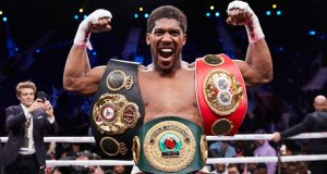 Anthony Joshua will be at Fight Camp to watch Dillian Whyte's clash with Alexander Povetkin on Saturday Photo Credit: Mark Robinson/Matchroom Boxing