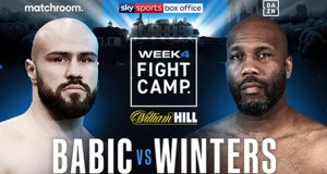 Alen Babic will clash with Shawndell Winters in the final Matchroom Fight Camp on Saturday Photo Credit: Matchroom Boxing