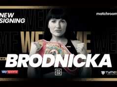 Ewa Brodnicka has signed a multi-fight promotional deal with Matchroom Boxing Photo Credit: Matchroom Boxing