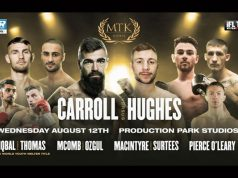 Jono Carroll headlines MTK Global's return against Maxi Hughes in Wakefield on Wednesday Photo Credit: MTK Global