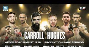 Jono Carroll headlines MTK Global's return against Maxi Hughes in Wakefield on Wednesday Photo Credit: MTK Global