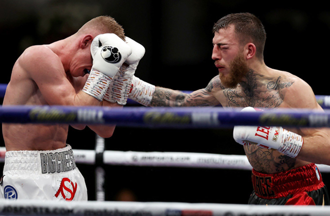 Eggington came on strong in the latter rounds Photo Credit: Mark Robinson/Matchroom Boxing