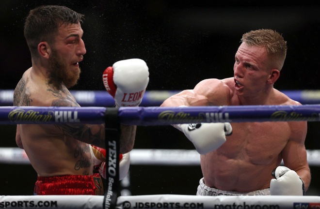Cheeseman ended a run of three without a win and claimed the IBF International Super-Welterweight title Photo Credit: Mark Robinson/Matchroom Boxing