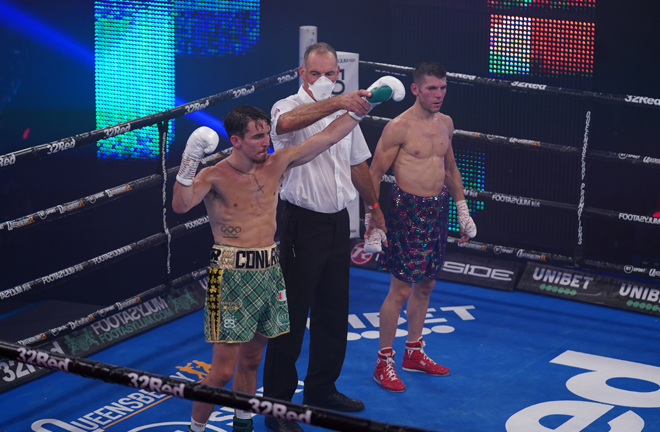 Conlan closed in on a maiden world title shot after victory at York Hall Photo Credit: Queensberry Promotions