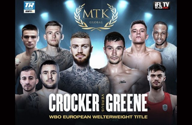 Lewis Crocker clashes with Louie Greene for the WBO European Welterweight crown as MTK return Photo Credit: MTK Global