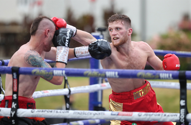 John Docherty remained unbeaten with a seventh round stoppage over Anthony Fox Photo Credit: Mark Robinson/Matchroom Boxing