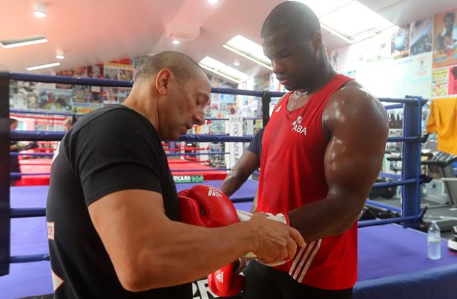 Daniel Dubois alongside coach Martin Bowers have relocated to the new Peacock Gym in Epping Photo Credit: 32 Red