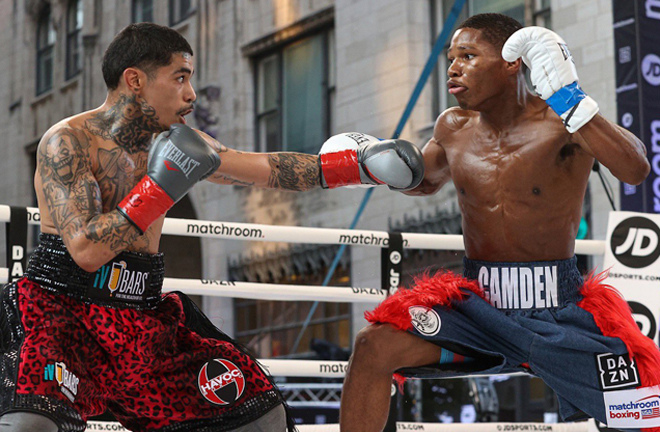 Featherweight Raymond Ford remained undefeated with a shutout win over Eric Manriquez Photo Credit: Ed Mulholland/Matchroom Boxing