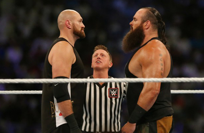 Fury beat Braun Strowman in the WWE Crown Jewel last October Photo Credit: Reuters/Ahmed Yosri