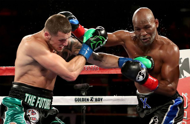 Joe Smith Jr stopped Bernard Hopkins in the two-weight world champion's final fight in 2016 Photo Credit: Tom Hogan / Golden Boy Promotions