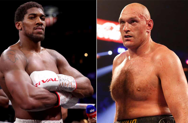 Anthony Joshua and Tyson Fury threaten early KO's in eventual undisputed Heavyweight world title clash Photo Credit: PA Images/Reuters
