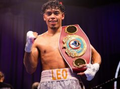 Angelo Leo was crowned WBO World Super-Bantamweight champion after beating Tramaine Williams on Saturday Photo Credit: Amanda Westcott/Showtime
