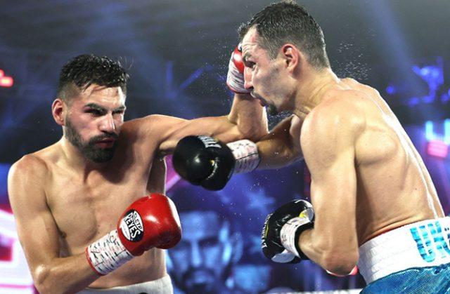 Jose Ramirez retained his unified Super-Lightweight titles against Viktor Postol in Las Vegas Photo Credit: Mikey Williams/Top Rank