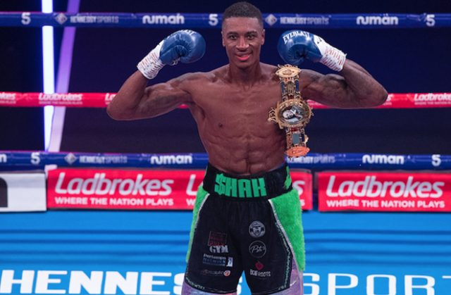 Shakan Pitters claimed the vacant British Light-Heavyweight title on Saturday Photo Credit: Courtesy of Hennessy Sports