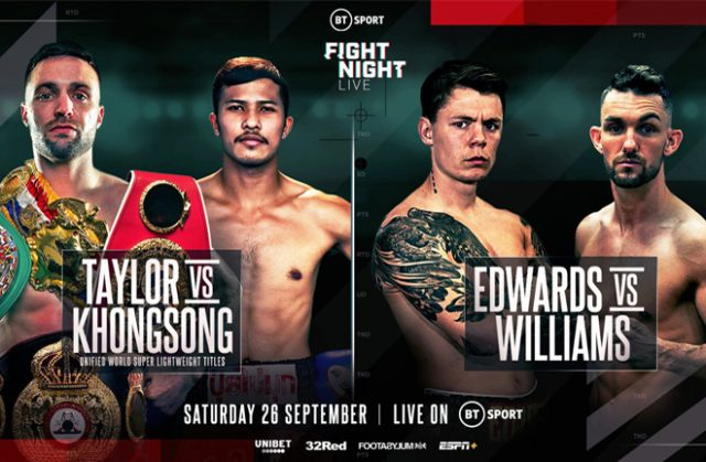 Charlie Edwards will return against Kyle Williams on the Taylor-Khongsong undercard on Sept 26 Photo Credit: Queensberry Promotions
