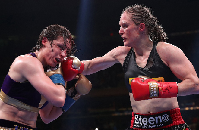 Katie Taylor faces Delfine Persoon in a rematch for her undisputed Lightweight titles Photo Credit: Boxing Scene