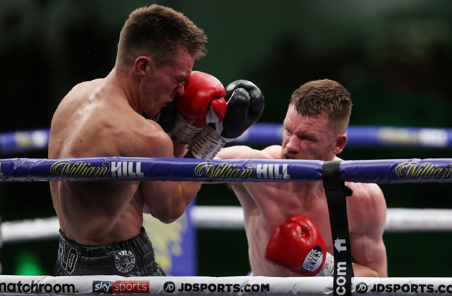 James Tennyson claimed the British Lightweight title in emphatic fashion against Gavin Gwynne Photo Credit: Mark Robinson/Matchroom Boxing