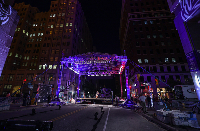 Matchroom USA transformed the streets of Tulsa to stage the event Photo Credit: Ed Mulholland/Matchroom Boxing