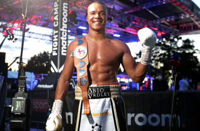 Fabio Wardley stopped Simon Vallily to win the English Heavyweight crown Photo Credit: Mark Robinson/Matchroom Boxing