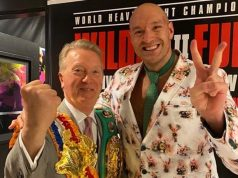 Frank Warren believes Tyson Fury should face Anthony Joshua rather than Dillian Whyte should he come through Deontay Wilder Photo Credit: Instagram / @frank_warren_official