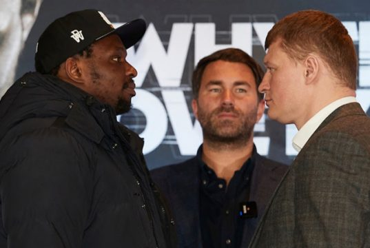 Dillian Whyte will put his WBC mandatory position at stake against Alexander Povetkin on Saturday Photo Credit: Matchroom Boxing