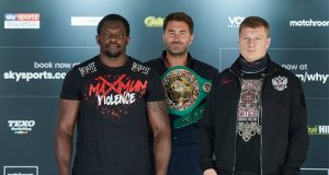 Dillian Whyte will put his WBC mandatory position at stake against Alexander Povetkin on Saturday Photo Credit: Mark Robinson/Matchroom Boxing