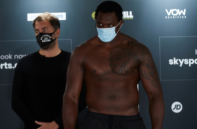 Whyte was almost a stone-and-a-half lighter than he was in Saudi Arabia in December Photo Credit: Mark Robinson/Matchroom Boxing
