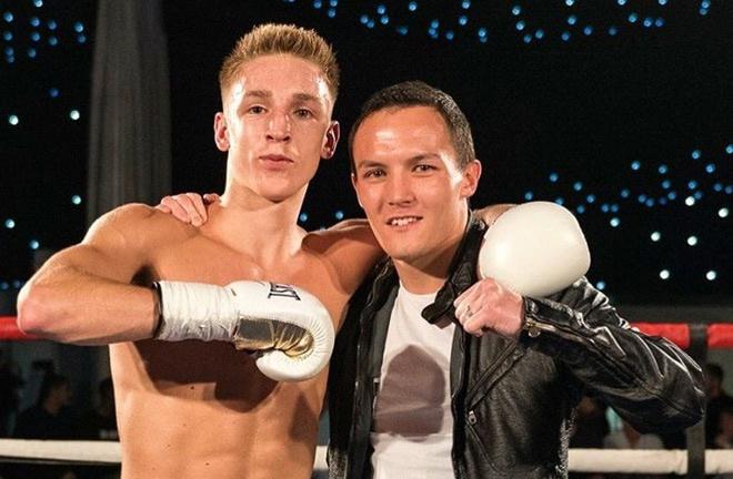 Jack Bateson and his friend Josh Warrington, the IBF World Champion. Photo Credit: Twitter @jackbateson94