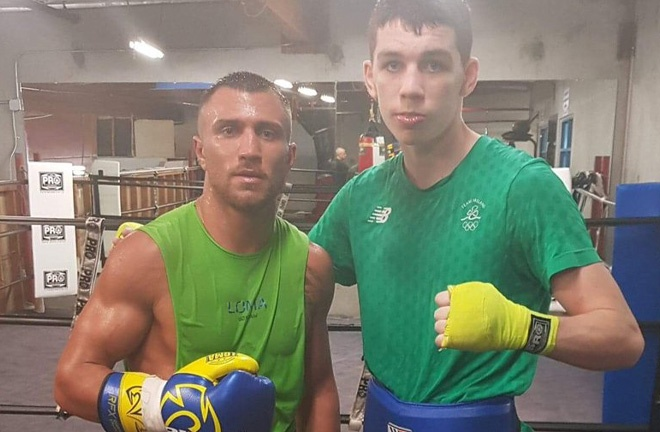 Stevie McKenna has sparred some of the best in boxing including Vasily Lomachenko. Photo Credit: Twitter / @stevie_mckenna