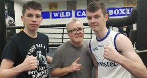 The McKenna brothers and trainer Freddie Roach in the Wildcard Gym. Photo Credit: boxing scene