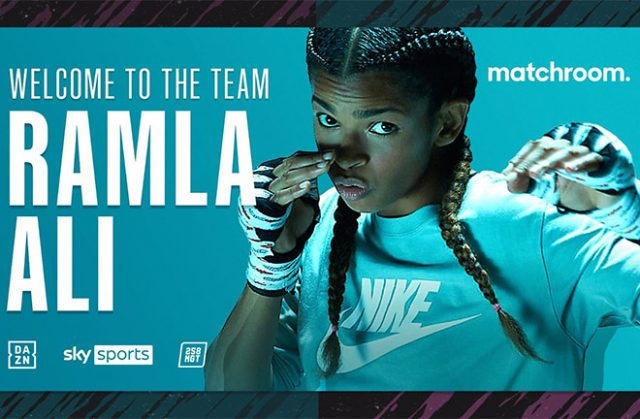 Ramla Ali has signed a deal with Eddie Hearn's Matchroom Boxing.