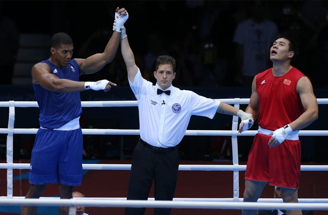 Zhang was beaten by Anthony Joshua at the 2012 Olympics Photo Credit: PA