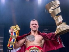 Mairis Briedis won the World Boxing Super Series, claiming the IBF belt, Ring Magazine title and Ali Trophy Photo Credit: WBSS