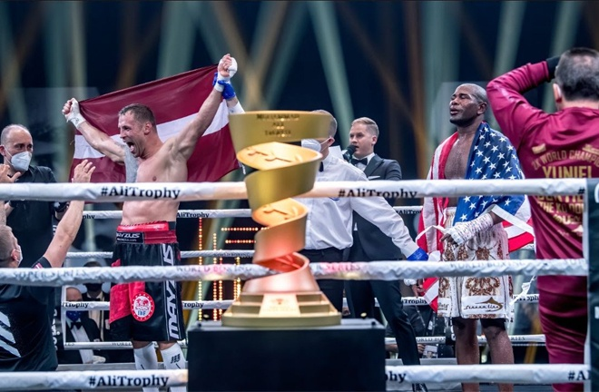 Briedis could not hide his emotion after being crowned champion Photo Credit: WBSS
