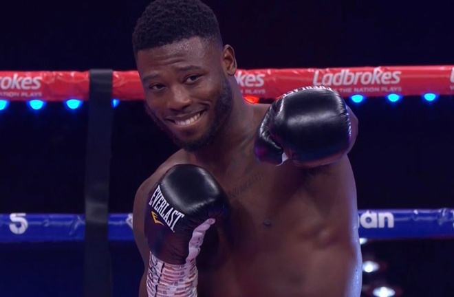 Isaac Chamberlain after his impressive first round KO victory last night.