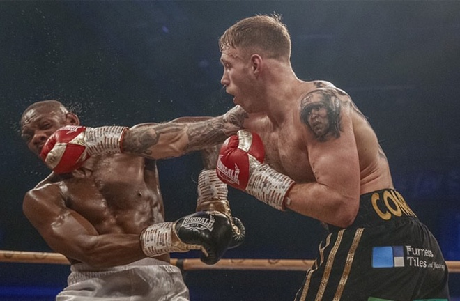 Liam Conroy saw off Andre Sterling to reach the last four Photo Credit: Scott Rawsthorne / MTK Global