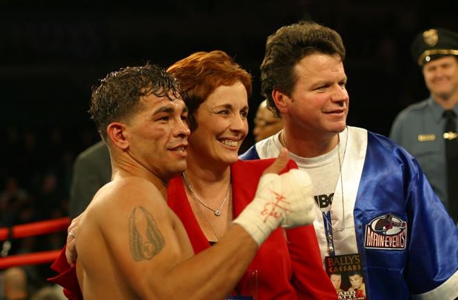 Kathy Duva alongside the late, great Arturo Gatti Photo Credit: Main Events