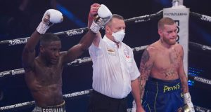 Ekow Essuman secured a dominant win over Cedrick Peynaud to become IBF European Welterweight champion Photo Credit: Round 'N' Bout Media / Queensberry Promotions